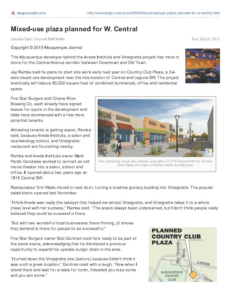 abqjournal.com-Mixeduse_plaza_planned_for_W_Central_Page_1
